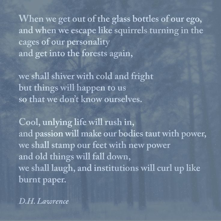 """Escape"" by D. H. Lawrence, from The Complete Poems of D. H. Lawrence. © Wordsworth Poetry Library, 1994."