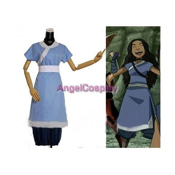 Avatar Cosplay Complete Katara Costume - Avatar Cosplay - Game Cosplay... ❤ liked on Polyvore featuring costumes