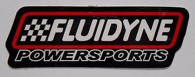 Power Sports ATVs UTVs: Fluidyne Powersports Helmet Decal Sticker Radiator Atv Utv Raptor Banshee Yamaha BUY IT NOW ONLY: $3.95