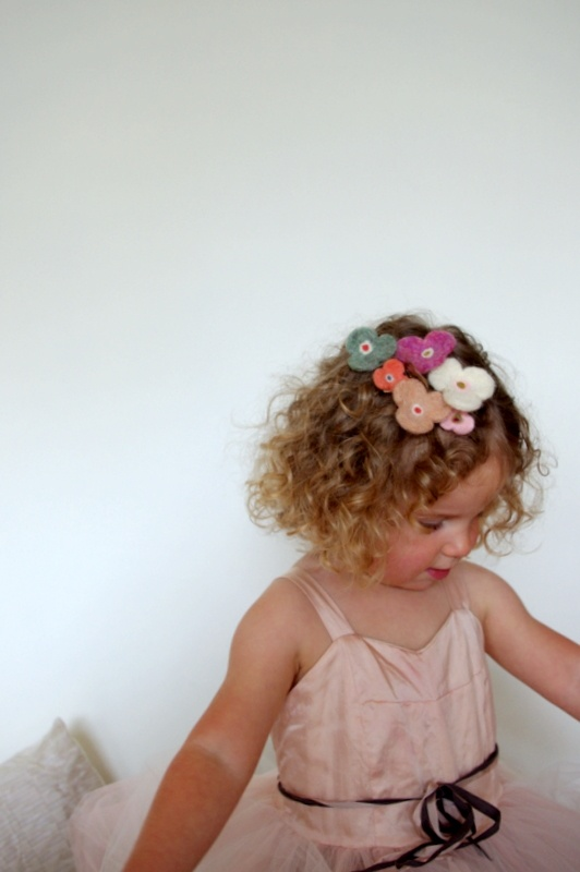 needle felted hair accessories