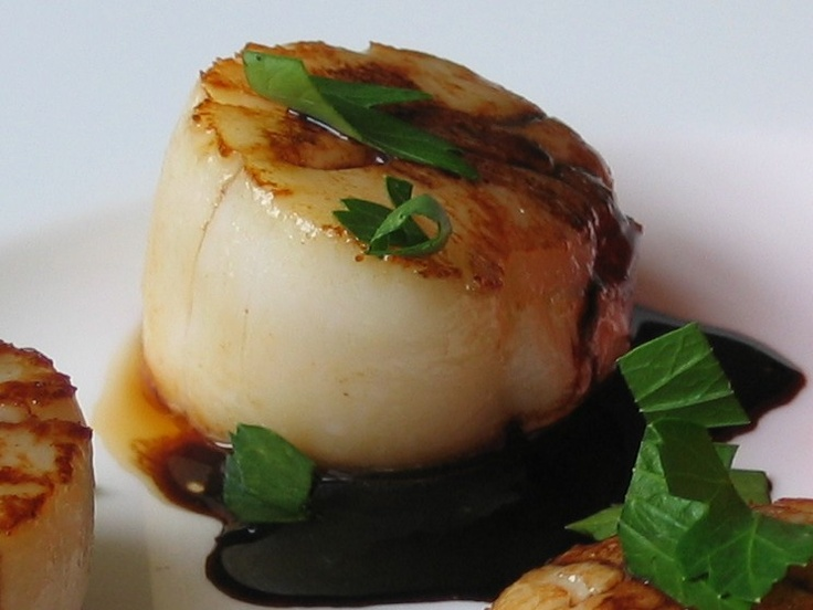 The Pearl Onion: Scallops with Rosemary Balsamic Reduction ...