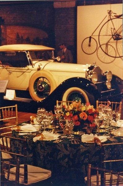 Car Museum as a wedding venue.