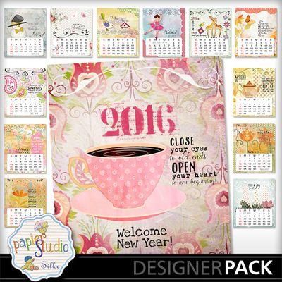 Lily Calendar 2016 digitalscrapbooking  digital scrapbooking by Papierstudio