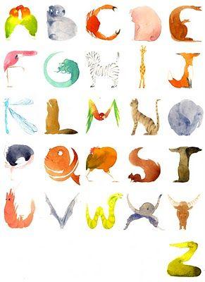Joli alphabet animalier par Éva Bourdier