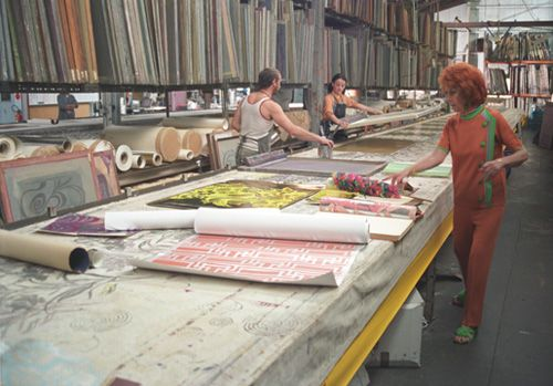 This image captures the essence of Florence. Her personally flamboyant style, with bright hennaed hair and striking, colourful outfits, yet also her innovation and attention to detail. It was these latter characteristics that led her to revolutionise the wallpaper and screen printing industry and bring art into everyday households across the world.