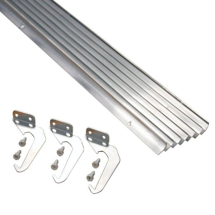 Rainhandler 4 In X 5 Ft Natural Aluminum Finish Rh Plus With Brackets And Screws Rhp 5a The Home Depot Gutters Diy Gutters Downspout