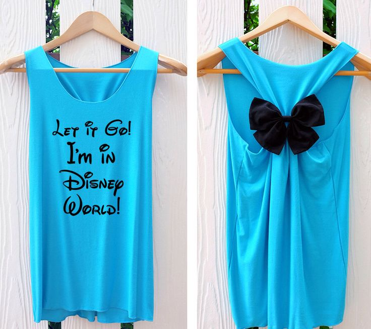 Let it go! I'm in Disney World tank top. Princess tank top. Disney tank top. Bow tank top. Work out tank. Racerback bow. by TheClover88 on Etsy https://www.etsy.com/listing/213093965/let-it-go-im-in-disney-world-tank-top