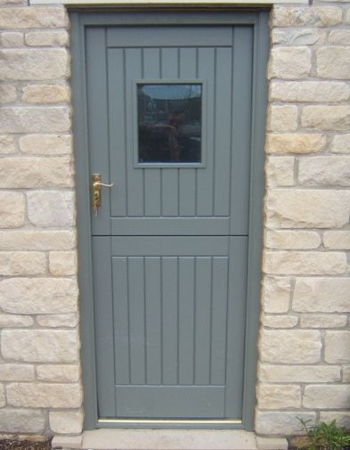 UPVC stable door in grey.