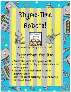 Rhyme Time Robots {FREEBIE!}