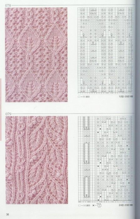 beautiful  knitting  patterns with chart: