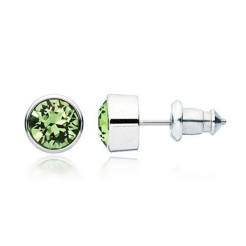 Harley Peridot Crystal Stud Earrings with Swarovski® Crystals