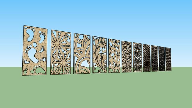 Wall Decoration 3d Model Free Download : Large preview of d model motif laser cutting part