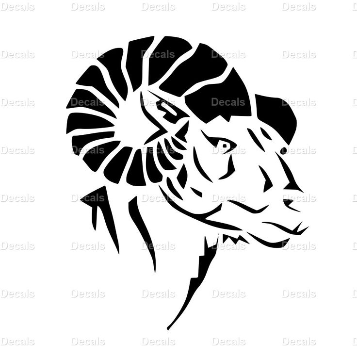 Ram Decal - Ram Sticker - Ram Laptop Decal - Ram Art - Ram Wall Art - Ram Wall Decals - Ram Car Decal - Ram Window Decal - Goat Decal by ChadstersDecals on Etsy