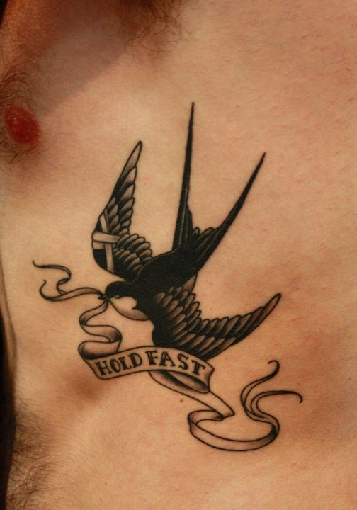 Another birdie...Fun fact: 'Hold Fast' is the clan motto of Clan Gunn, from which one branch of my family descends.