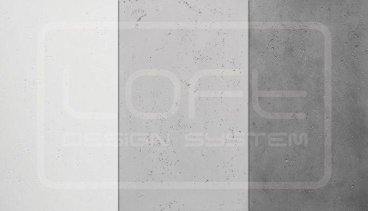 Loft concrete colors:  Ivory white->Dove Grey->Stone Grey.  Kliknij zdjęcie by uzyskać więcej informacji lub aby przejść na naszą stronę internetową.