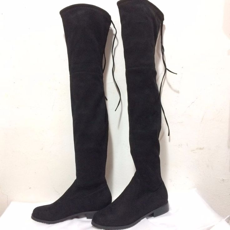 Simple Fashion Round Toe Suede Woman Over-the-Knee Boots Square Heel Low-Heeled Women's Boots Women's Shoes Size 34-43 seven col