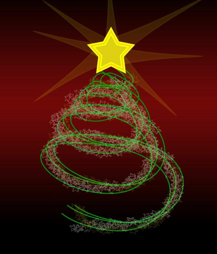 rbol de navidad con estrellas