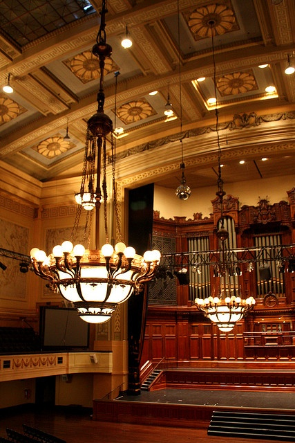 Interior Main Hall, Melbourne Town Hall.