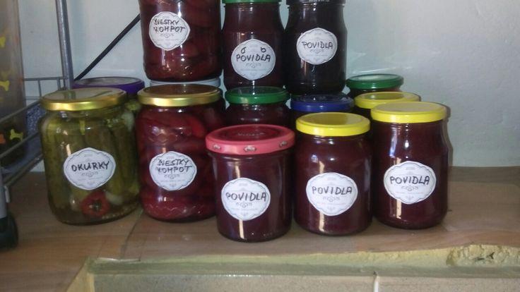 2016- zavařování okurek,paprik, a výroba džemu
