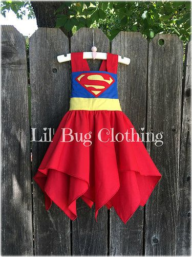 Superhero Supergirl Superman Dress Superhero Supergirl