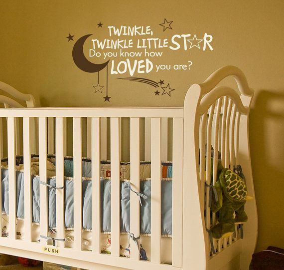 So sweet :):  Cots, Vinyls Decals, Nurseries, Quotes, Dreams, Vinyls Wall Decals, Baby Rooms, Wall Stickers, Cribs
