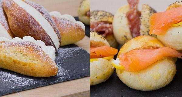 Le brioches di Federico: Maritozzi con crema al burro, veneziane all'arancia, bottoncini salati. Leggi le ricette.