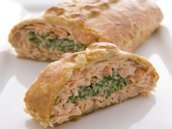 Salmon in Puff Pastry from Cookstr.com #cookstr