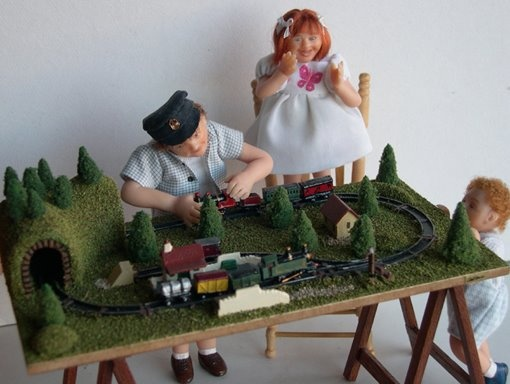 Okay so I don't have room for a railway system in Dolton so how about a miniature one for my dolls?