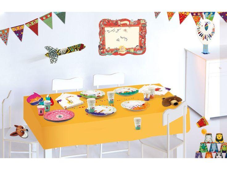 Djeco Party készlet - szavanna  A Djeco által kínált partikellékek és kiegészítők igazán színessé és egyedivé varázsolnak minden gyerekzsúrt. Legyen születésnap vagy névnap biztosan megtaláljuk az alkalomhoz illő eszközöket. A gyönyörűen illusztrált, azonos témájú készletekhez megtaláljuk a megfelelő meghívókártyákat is. Így teljes és egységes készlet állítható össze minden alkalomra.  http://www.kocoska.hu/mesebolt/dekoracio/teritek/djeco-party-keszlet-szavanna.html
