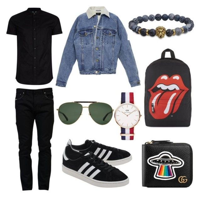 Crush's outfit on Polyvore Topman Valentino Fear of God adidas Originals Daniel Wellington Gucci men's fashion menswear clothing