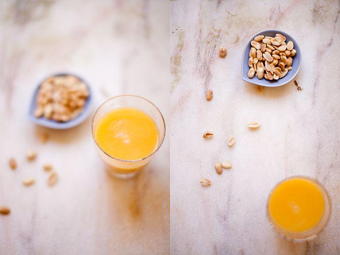 No Soup for You: À procura da simplicidade. Num copo de sumo e num workshop de tricot - Sumo de pêssego e melão.