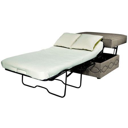 Sleeper Ottoman....perfect as an extra guest bed.