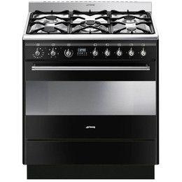 Smeg oven - gas range in black