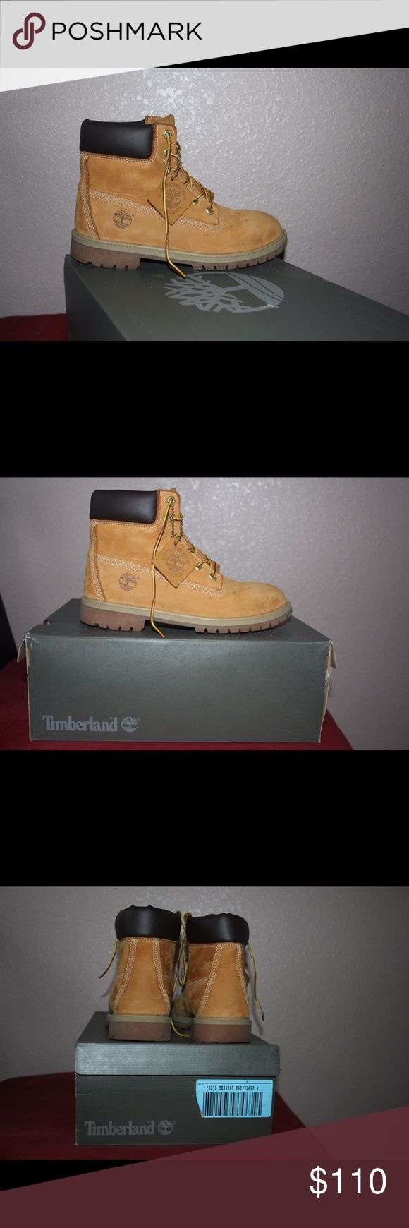 Authentic Timberland Boots Authentic Original Tan Timberland boots . Only worn twice , almost brand new . Box included. Women's Size 9, Men's Size 7. Timberland Shoes Winter & Rain Boots