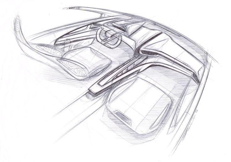 Automotive Interior Sketch -  by Cesar Zanardo