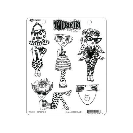 Ranger 8.5 x 7 Four Dyan Reaveleys Dylusions Cling Stamp Collections Multicolor
