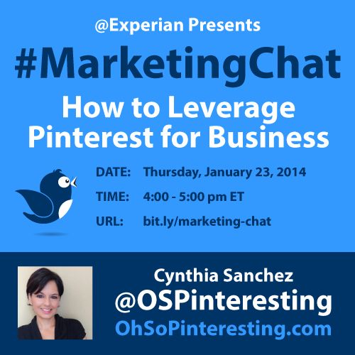 Join our #MarketingChat on Twitter Thursday January, 23 at 4 p.m. EST. | Experian News Blog