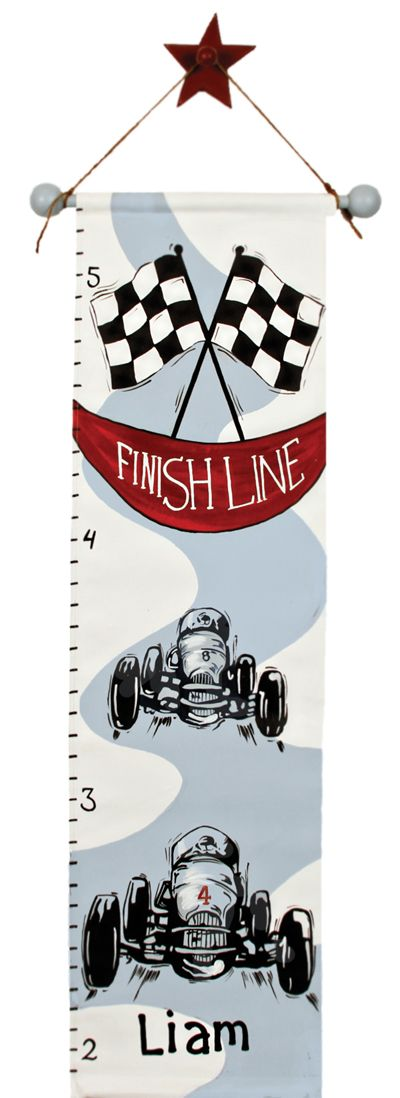 Race car growth chart would look good in any little boys room!!