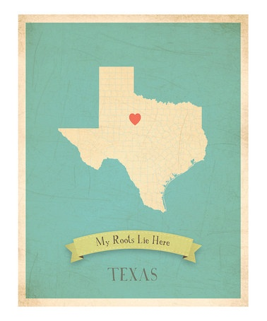 Roots, Texas, World Maps, My Heart, Children, Prints, Design, Baby Gift, New Jersey