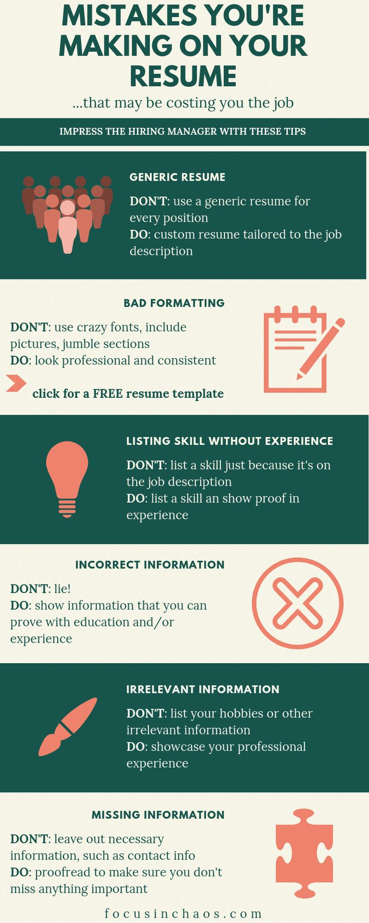 6 Mistakes You're Making On Your Resume How to make