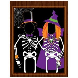 Mr. and Mrs. Skeleton Spooky Halloween Photo Op Cut-Out Party Banners