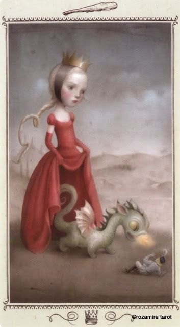 King of Wands - Nicoletta Ceccoli Tarot by Nicoletta Ceccoli