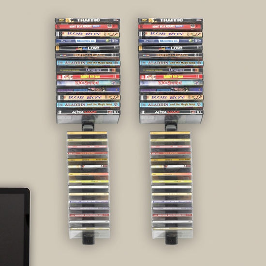 Atlantic Stix Wall Mounted Multimedia Wire Rack (Set Of 4) Holds Up To 60