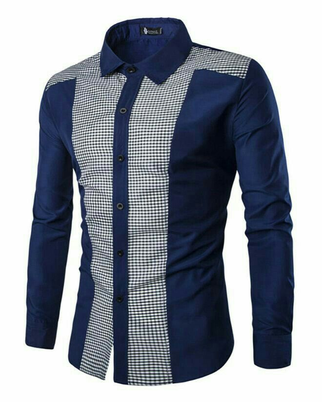 fd419d8be5f4 Men Fall Winter Casual Long Sleeve Patchwork Shirt Button Down Blouse Plus  Size. Tee Dress, Dress Shirts, Casual Suit, Casual Button Down Shirts,  Tuxedo,