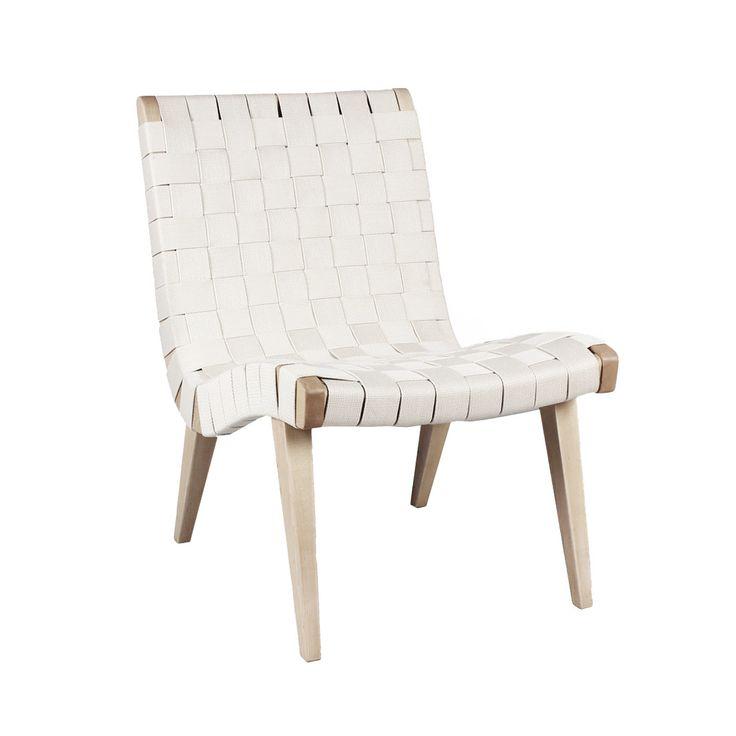 midcentury modern risom lounge chair white inspired by jens risom