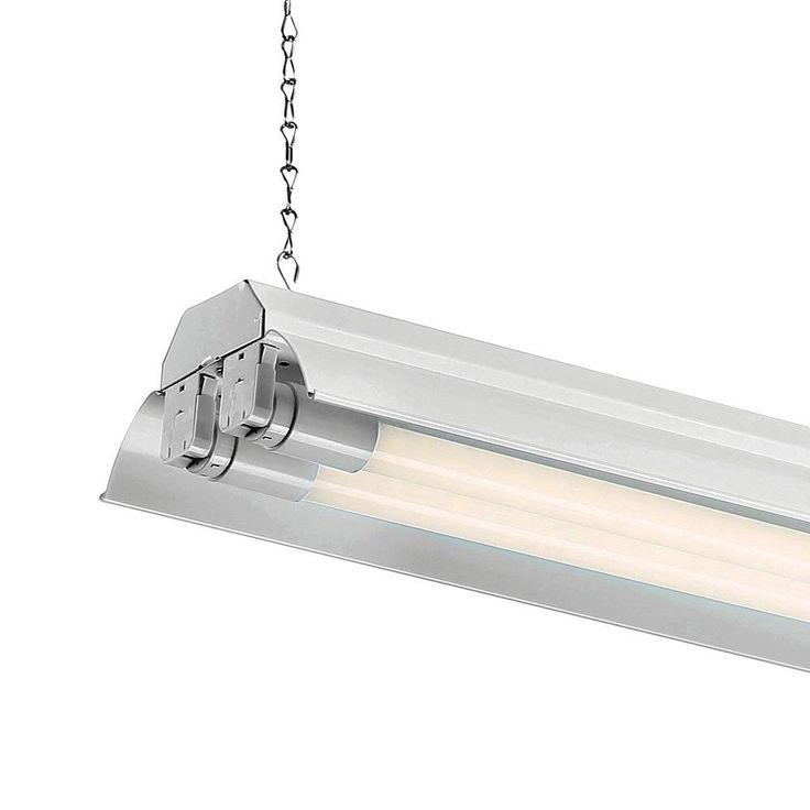 EnviroLite 4 ft. 2-Light White LED Shop Light with T8 LED 4000K Tubes (12-Pack)