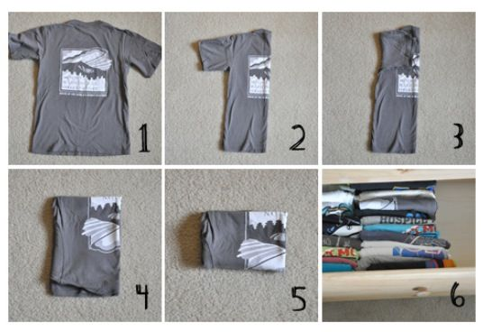 T Shirt Folding Organizing Dresser Clothes And More