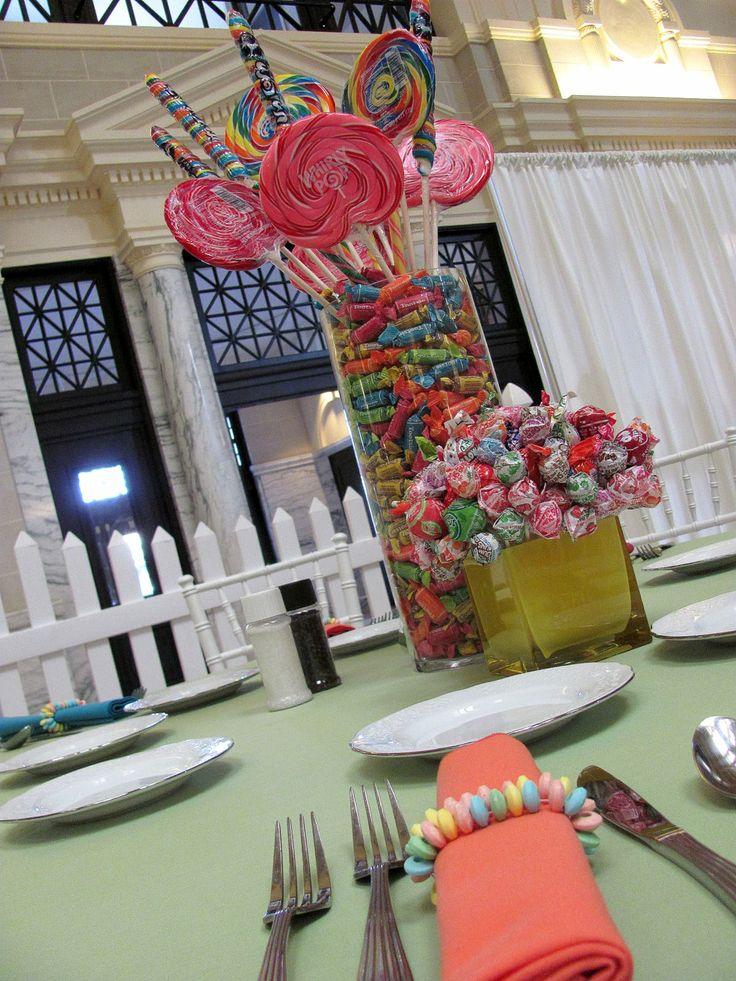 Candy centerpiece idea xv pinterest bat mitzvah