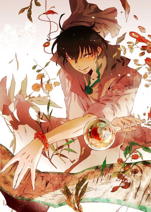Hoozuki no Reitetsu ~~ Haktaku looking like a mad scientist... which suits him nicely.