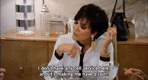 When it's gettin rough.   17 Essential Kris Jenner GIFs For Your Reaction GIF Folder